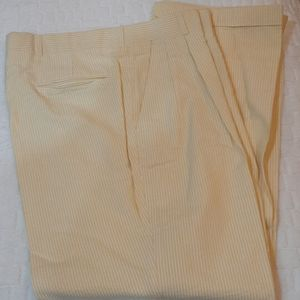 Brooks Brothers yellow seersucker pants